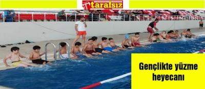 Gençlikte yüzme heyecanı
