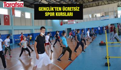 GENÇLİK'TEN ÜCRETSİZ SPOR KURSLARI