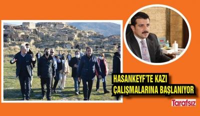 HASANKEYF'TE KAZI ÇALIŞMALARINA BAŞLANIYOR