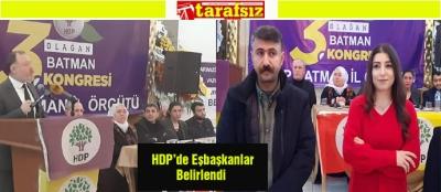 HDP'de Eşbaşkanlar Belirlendi