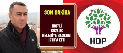 HDP'Lİ KOZLUK BELEDİYE BAŞKANI İSTİFA ETTİ