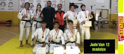 Judo'dan 12 madalya