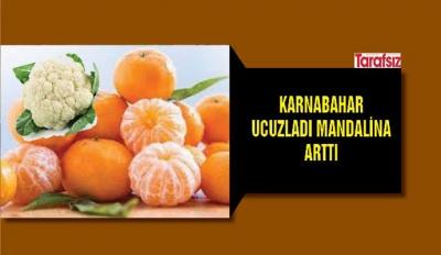 KARNABAHAR UCUZLADI MANDALİNA ARTTI