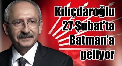 Kılıçdaroğlu Batman'a geliyor
