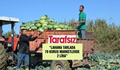 """LAHANA TARLADA 70 KURUŞ MARKETLERDE 2 LİRA"""
