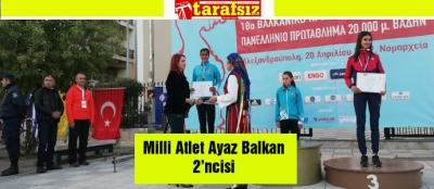 Milli Atlet Ayaz Balkan 2'ncisi
