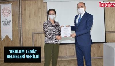 'OKULUM TEMİZ' BELGELERİ VERİLDİ