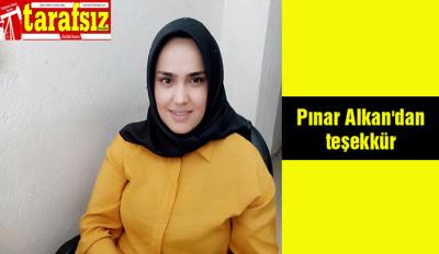 Pınar Alkan'dan teşekkür