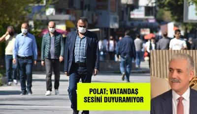 Polat; Vatandaş sesini duyuramıyor