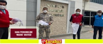 SAHA PERSONELİNE 'MASKE' DESTEĞİ