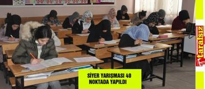 SİYER YARIŞMASI 40 NOKTADA YAPILDI
