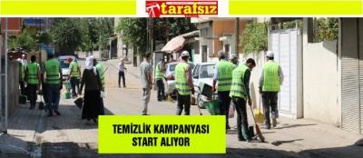 TEMİZLİK KAMPANYASI START ALIYOR