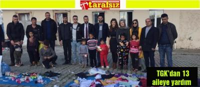 TGK'dan 13 aileye yardım