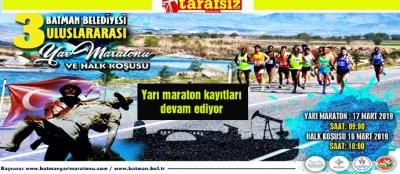Yarı maraton kayıtları devam ediyor