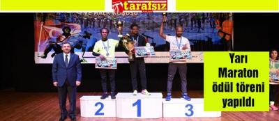 Yarı Maraton ödül töreni yapıldı