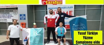 Yusuf Türkiye Yüzme Şampiyonu oldu