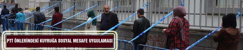 PTT ÖNLERİNDEKİ KUYRUĞA SOSYAL MESAFE UYGULAMASI